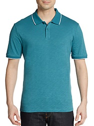 Saks Fifth Avenue Blue Slim Fit Cotton Polo Shirt Colonial Blue