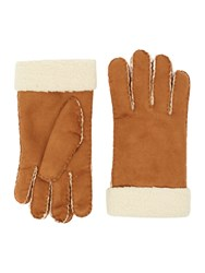 Howick Suede Borg Glove Tan