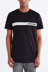 The Narrows Reflective Tape Zip Pocket Tee Black