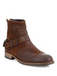 Belstaff Trialmaster Leather Ankle Boots Oak Brown