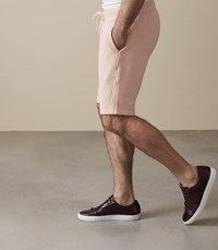 Reiss Joey Jersey Shorts In Soft Pink