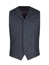 Gibson Men's Navy And Red Check Vest Blue