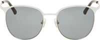 3.1 Phillip Lim White And Black Metal Sunglasses