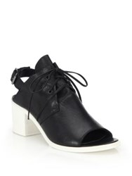 Ld Tuttle Leather Lace Up Slingback Sandals