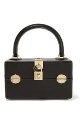 Dolce And Gabbana Lizard Effect Leather Vanity Case Black