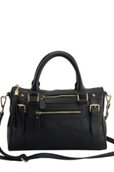 Erica Anenberg Venteux Genuine Leather Satchel Black