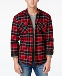American Rag Men's Lined Plaid Jacket Only At Macy's Deep Black