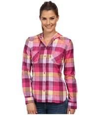 Mountain Hardwear Stretchstone Flannel Long Sleeve Shirt Haute Pink Women's Long Sleeve Button Up