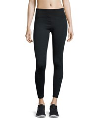 Nanette Lepore Wide Waist Textured Panel Leggings Grey Black