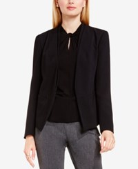 Vince Camuto Open Front Collarless Blazer Rich Black