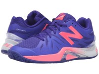 New Balance Wc1296v2 Blue Guava Women's Tennis Shoes