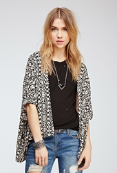 Forever 21 Tribal Print Woven Cardigan