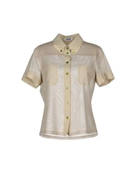 Moschino Cheap And Chic Moschino Cheapandchic Shirts Short Sleeve Shirts Women Beige