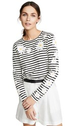 Chinti And Parker Debbie T Shirt Ivory Black