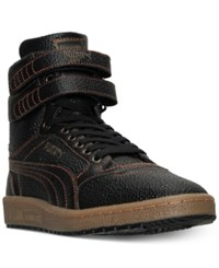 Puma Men's Sky Ii Hi Bball Casual Sneakers From Finish Line Puma Black Gold