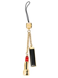 Chanel Vintage Enamelled Lipstick Key Ring Metallic