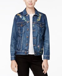 Lucky Brand Tomboy Trucker Embroidered Denim Jacket Lakewood