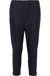 Nlst Officer Wool Blend Flannel Tapered Pants
