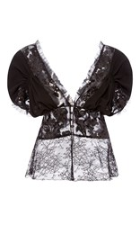 Rodarte Sequin And Wool Blouse Black