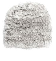 Hat Attack Fur Slouchy Hat Grey