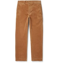 Beams Plus Slim Fit Cotton Blend Corduroy Trousers Brown