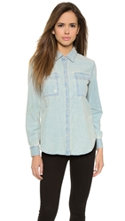 Baldwin Denim The Faye Snap Button Shirt Berkley Destroyed