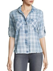 Bella Dahl Long Sleeve Plaid Shirt Raynes Wash