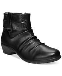 Easy Street Shoes Easy Street Yvonne Cuffed Booties Women's Shoes Black