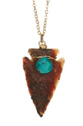 Leila Agate Arrowhead Pendant Necklace No Color