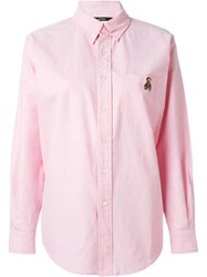 Joyrich Embroidered Detail Shirt Pink And Purple