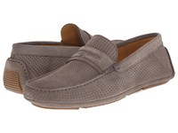 Aquatalia By Marvin K Bruce Stone Grey Woven Suede Men's Slip On Shoes Gray