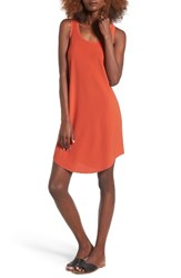 Leith Women's Tank Dress Red Persimmon