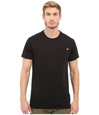 G Star Ratiz Short Sleeve Pocket Tee In Compact Jersey Black Men's Short Sleeve Pullover