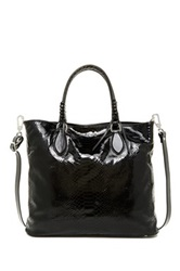Abro Pitone Leather Tote Black