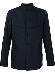 Christophe Lemaire Lemaire Mandarin Collar Lightweight Jacket Blue