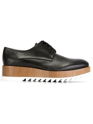 Jil Sander Lace Up Wedge Shoes Black