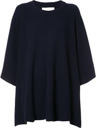 Chloe Ribbed Loose Fit Dress Blue
