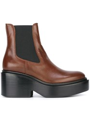 Maison Martin Margiela Mm6 Platform Ankle Boots Brown