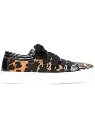 House Of Holland 'Smiley' Sneakers Brown