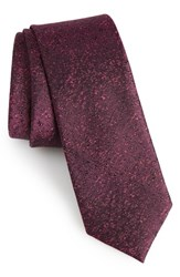 Calibrate Men's Rowland Abstract Silk Skinny Tie Pink