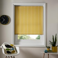 Orla Kiely Linear Stem Roller Blinds Dandelion Yellow