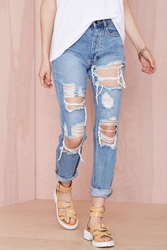 Nasty Gal Distressing Me Out Jeans