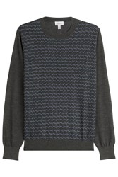 Brioni Printed Turtleneck Pullover With Cashmere And Silk Multicolor