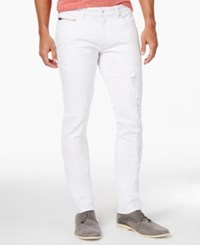 Inc International Concepts Men's Orlando White Ripped Skinny Jeans Only At Macy's