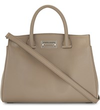 Max Mara Leather New Hollywood Tote Bag Taupe
