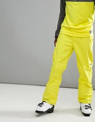 O'neill Hammer Ski Pants In Neon Yellow Poison Yellow