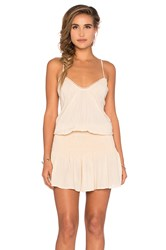 Blue Life Criss Cross Back Halter Dress Beige