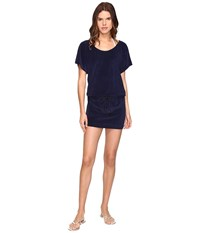 Vilebrequin Filou Terry T Shirt Dress Cover Up Navy Women's Swimwear
