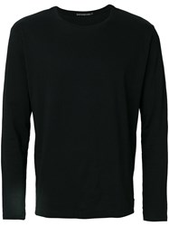 Issey Miyake Men Crew Neck Sweatshirt Men Cotton 1 Black