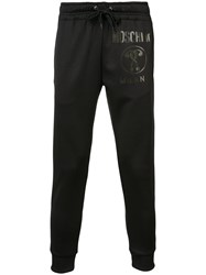 Moschino Printed Joggers Men Cotton Polyester Xs Black